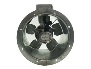 31JM/16/4/5/40/1Ph Long cased axial flow extract fan by Flakt Woods
