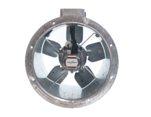 35JM/16/4/5/40/1Ph Long cased axial flow extract fan by Flakt Woods