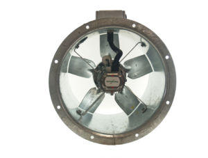 40JM/16/4/5/40/1Ph Long cased axial flow extract fan by Flakt Woods