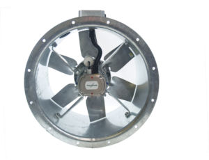 50JM/20/4/6/20/1Ph Long cased axial flow extract fan by Flakt Woods