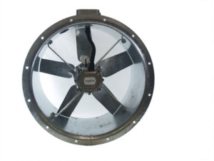 56JM/16/4/5/32/1Ph Long cased axial flow extract fan by Flakt Woods