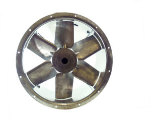 63JM/20/4/6/20/3Ph Long cased axial flow extract fan by Flakt Woods
