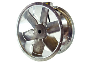 63JM/20/4/6/32/3Ph Long cased axial flow extract fan by Flakt Woods
