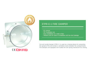 Flakt Woods ETPR-E-1-160-01-0 Fire Damper also known as MFD & ETPR-17