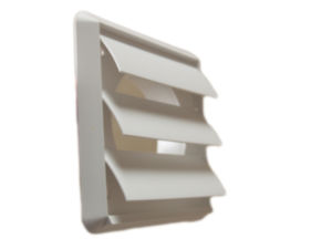 Wall Ventilation External Gravity Shutter in White (100mm) by Vent Axia