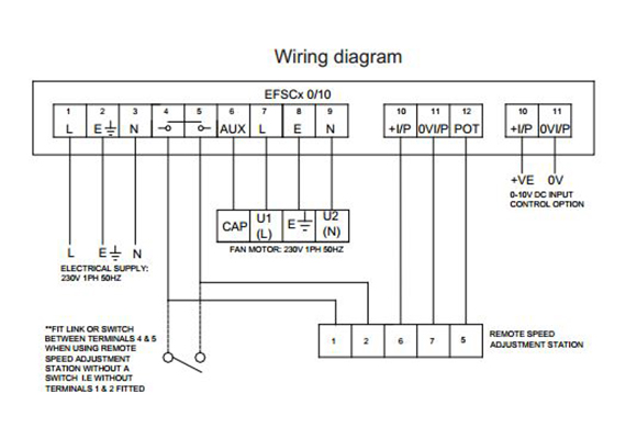 Commercial Extractor Fan Wiring Diagram : Cadamp efsc ph amp fan speed controller