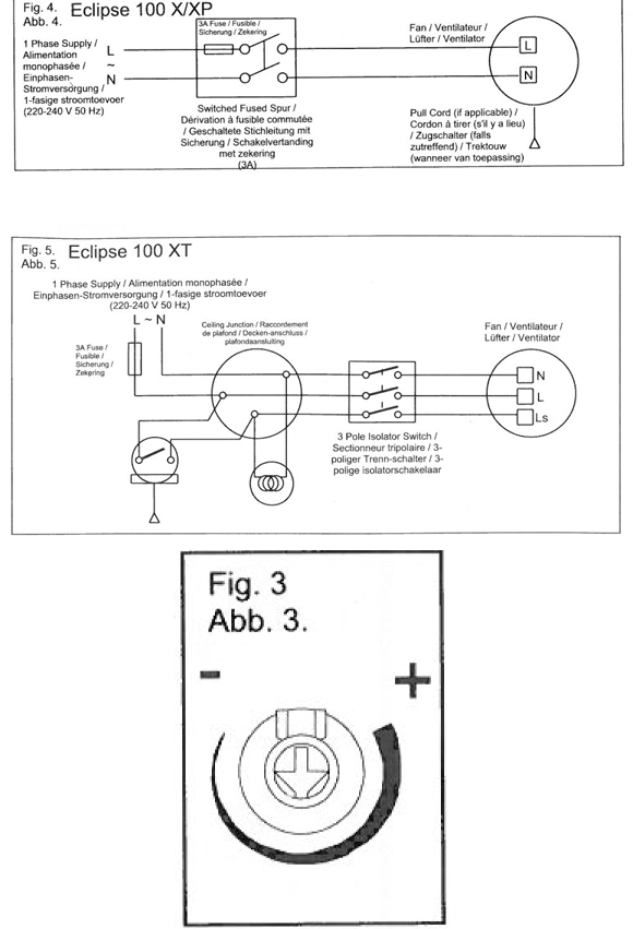Wiring Diagram Vent Fan : Eclipse xp bathroom kitchen toilet wall or ceiling