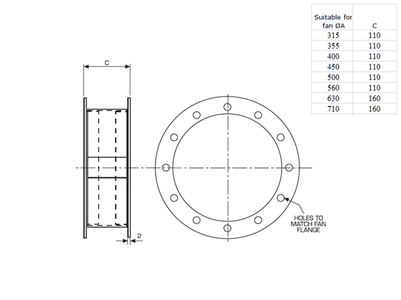 315mm Dia Flange Nfan Supply Amp Stock Extractor Fans