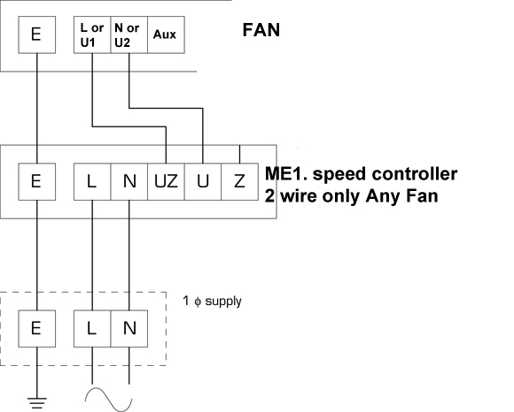 [EQHS_1162]  ME1.6 Fan Speed Controller by Flakt Woods / NFAN Supply & Stock Extractor  Fans & Ventilation Solutions for Homes & Businesses in the UK | 3 Wire Speed Control Schematic |  | NFAN
