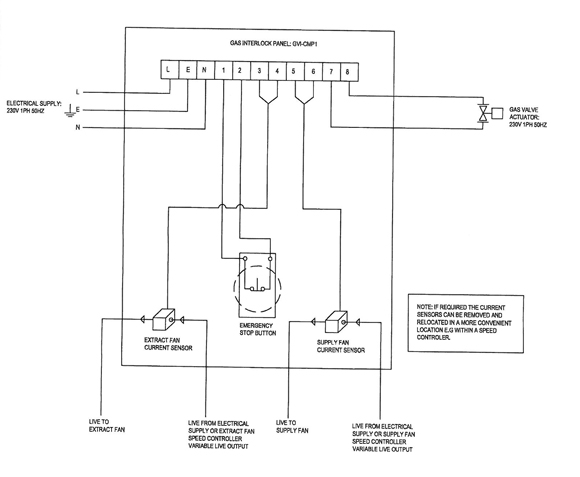 Commercial Extractor Fan Wiring Diagram : Ncsp gas ventilation interlock panel nfan supply