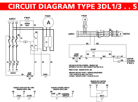 Brook Crompton Single Phase Motor Wiring Diagram : Phase on off starter c w overload